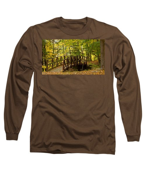 Footbridge At Letchworth Long Sleeve T-Shirt