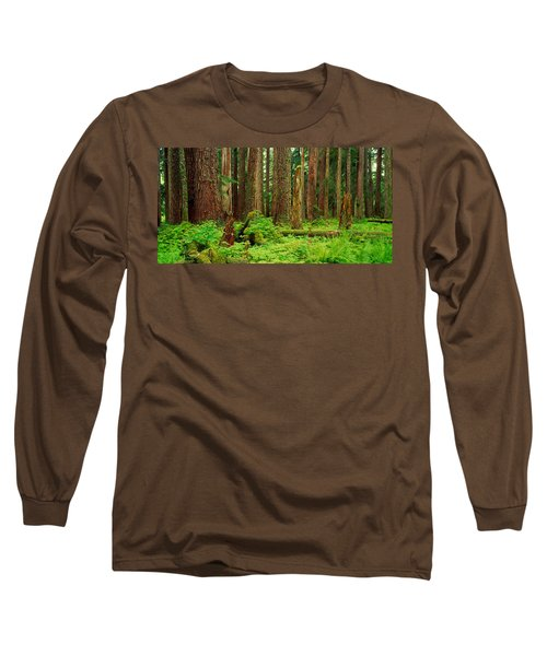 Forest Floor Olympic National Park Wa Long Sleeve T-Shirt