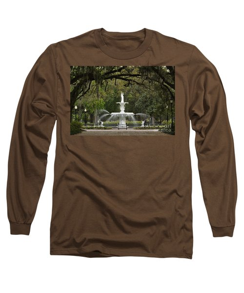 Forsyth Park Fountain - D002615 Long Sleeve T-Shirt