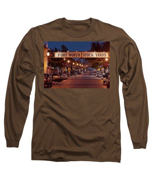 Fort Worth Stock Yards Night Long Sleeve T-Shirt