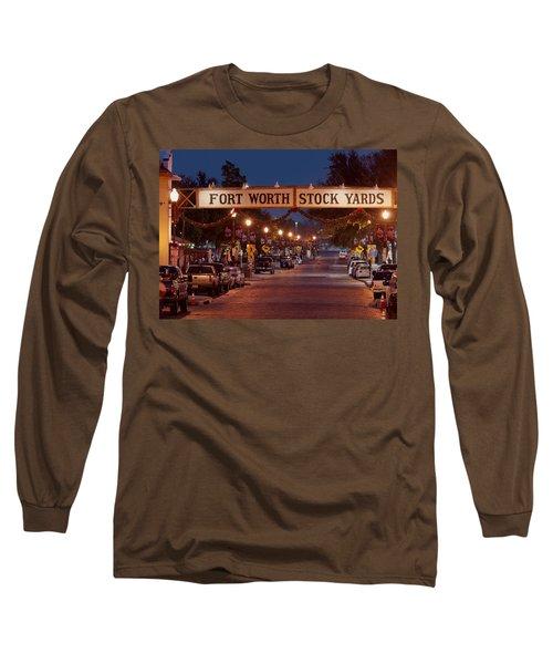 Fort Worth Stock Yards Night Long Sleeve T-Shirt