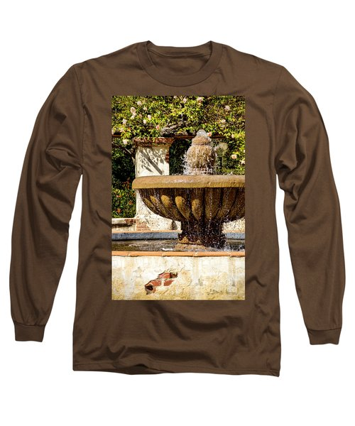 Fountain Of Beauty Long Sleeve T-Shirt by Peggy Hughes