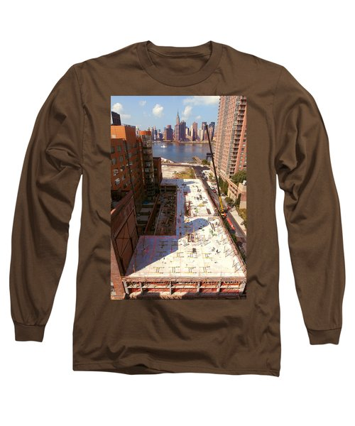 Fourth Floor Slab Long Sleeve T-Shirt by Steve Sahm