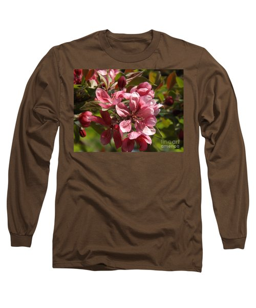 Fragrant Crab Apple Blossoms Long Sleeve T-Shirt