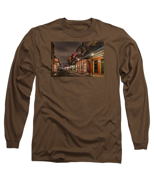 Long Sleeve T-Shirt featuring the photograph French Quarter Flags by Tim Stanley