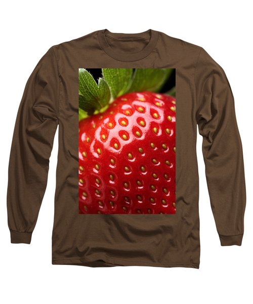 Fresh Strawberry Close-up Long Sleeve T-Shirt