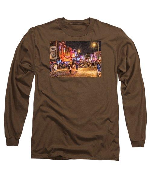 Friday Night On Beale Long Sleeve T-Shirt