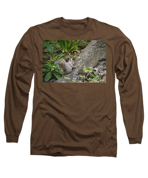 Long Sleeve T-Shirt featuring the photograph Friendly Squirrel by Marilyn Wilson