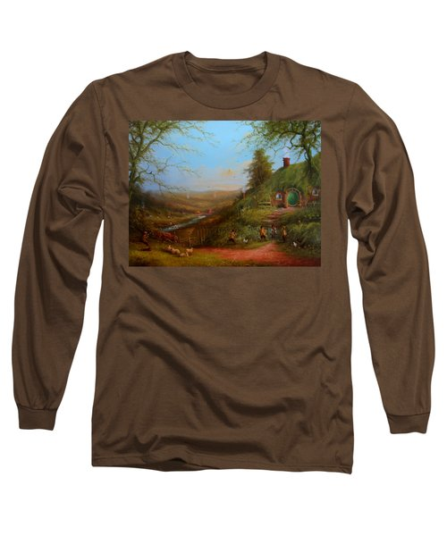 Frodo's Inheritance Bag End Long Sleeve T-Shirt by Joe  Gilronan