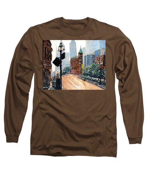 Front And Church Long Sleeve T-Shirt by Ian  MacDonald