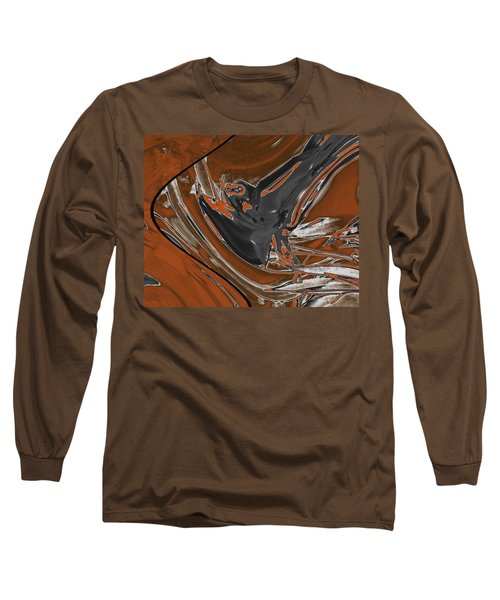 Long Sleeve T-Shirt featuring the digital art Frost And Woodsmoke 1 by Judi Suni Hall