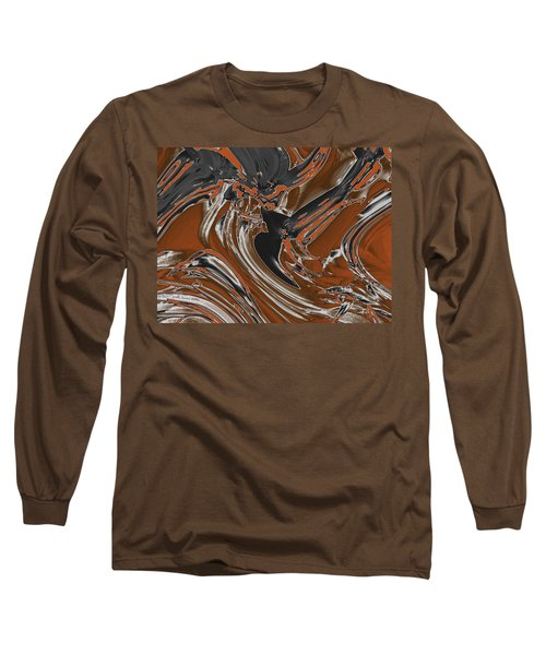 Long Sleeve T-Shirt featuring the digital art Frost And Woodsmoke  by Judi Suni Hall