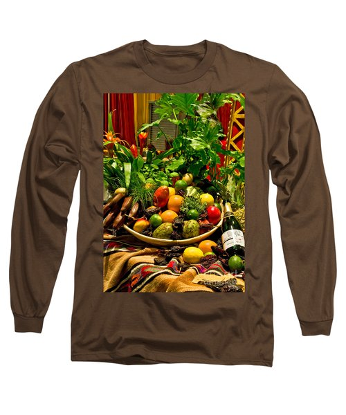 Long Sleeve T-Shirt featuring the photograph Fruit And Wine by Mae Wertz
