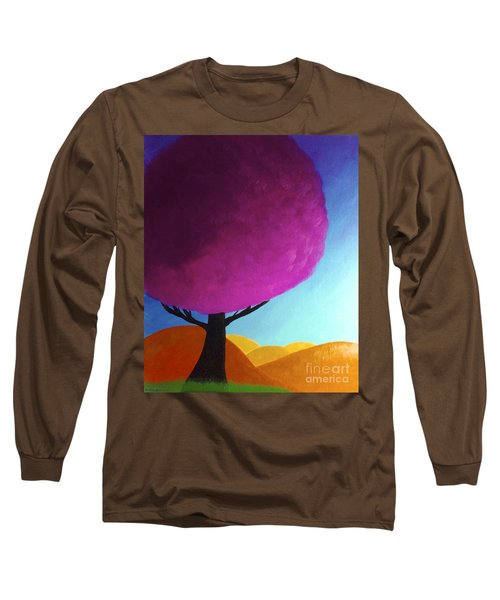 Long Sleeve T-Shirt featuring the painting Fuchsia Tree by Anita Lewis