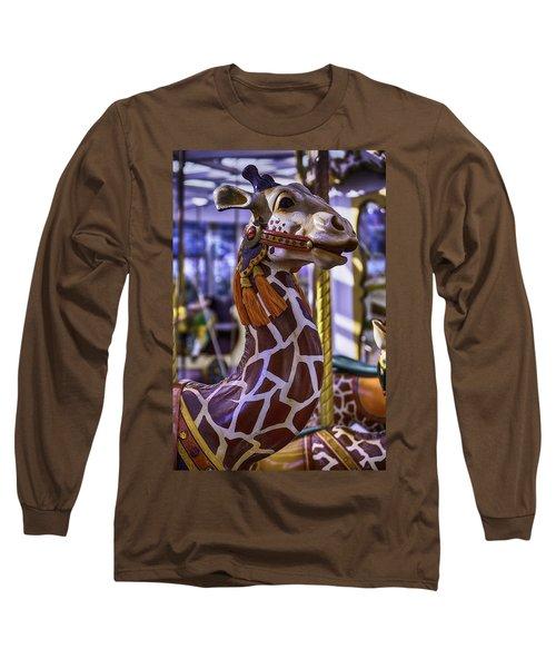 Fun Giraffe Carousel Ride Long Sleeve T-Shirt