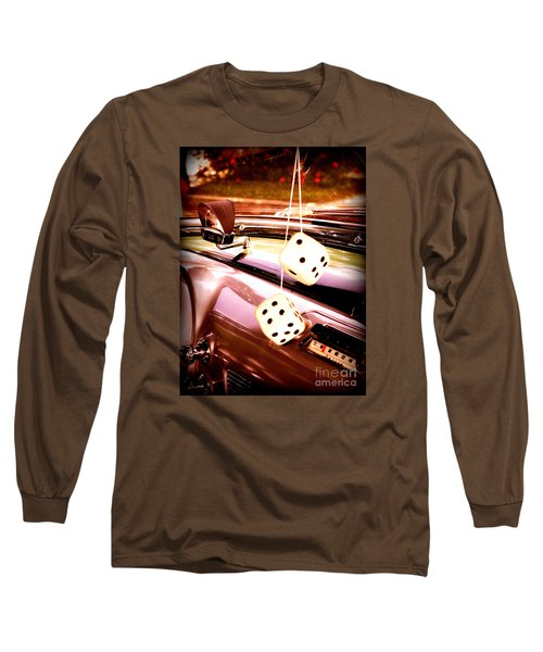 Fuzzy Dice Long Sleeve T-Shirt by Valerie Reeves