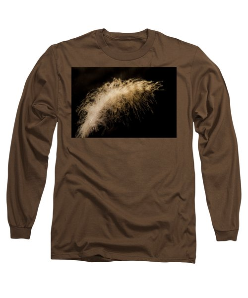 Fuzzy Feather Long Sleeve T-Shirt