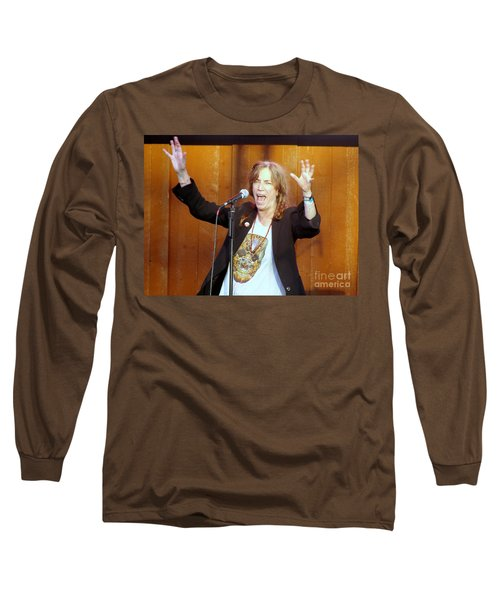 Long Sleeve T-Shirt featuring the photograph G-l-o-r-i-a by Ed Weidman