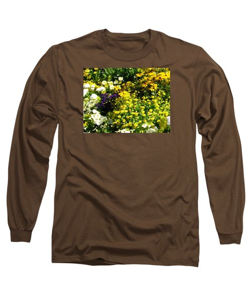 Garden Flowers Long Sleeve T-Shirt by Oleg Zavarzin