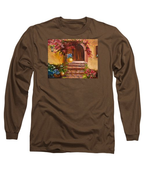 Garden Of Serenity Long Sleeve T-Shirt by Jenny Lee