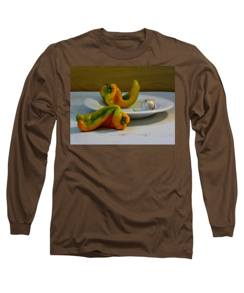 Garlic And Peppers Long Sleeve T-Shirt