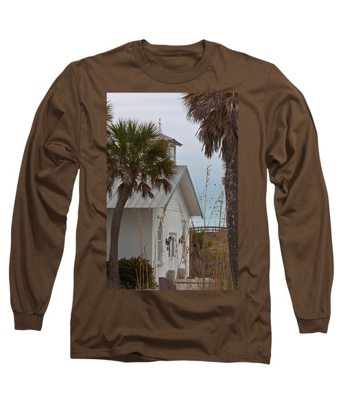 Long Sleeve T-Shirt featuring the photograph Gasparilla Island State Park Chapel by Ed Gleichman