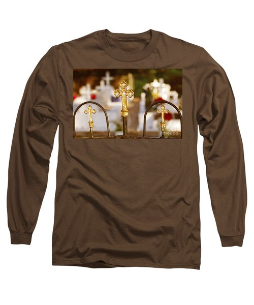 Long Sleeve T-Shirt featuring the photograph Louisiana Cemetery by Luana K Perez