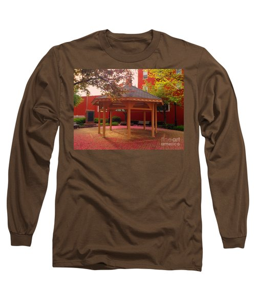 Long Sleeve T-Shirt featuring the photograph Gazebo In Pink by Becky Lupe