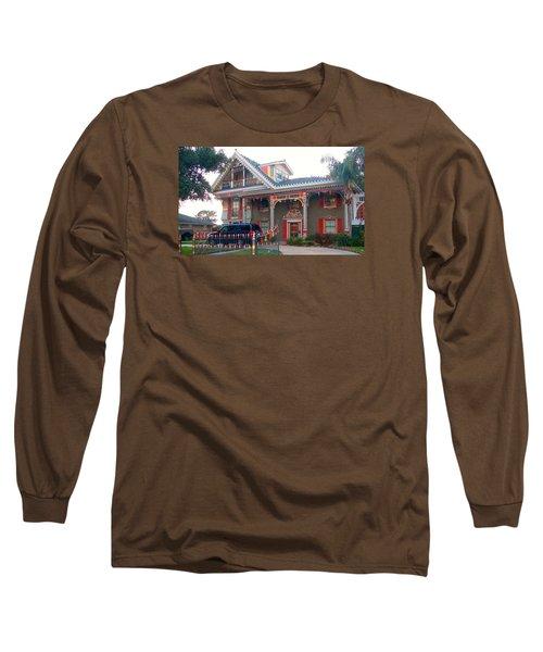Gingerbread House - Metairie La Long Sleeve T-Shirt by Deborah Lacoste