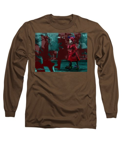 Girl In The Blood-stained Coat Long Sleeve T-Shirt by Seth Weaver