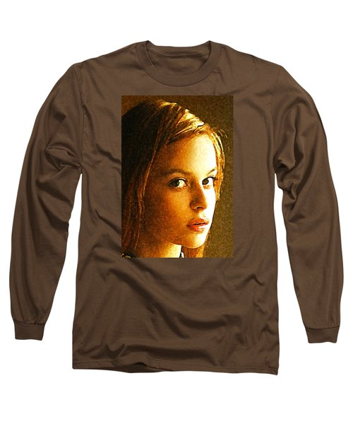 Long Sleeve T-Shirt featuring the painting Girl Sans by Richard Thomas