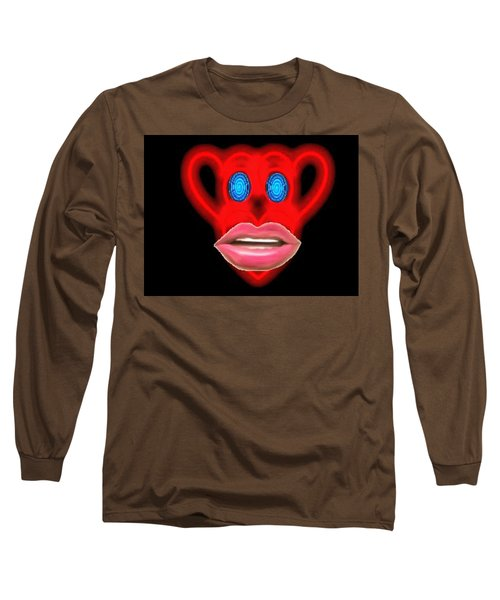 Glamour Monkey Blue Whirls Long Sleeve T-Shirt