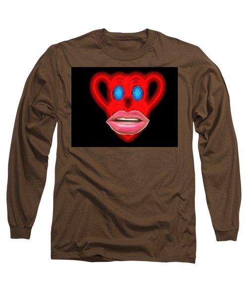 Glamour Monkey Blue Whirls Long Sleeve T-Shirt by Catherine Lott