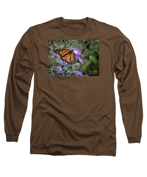 Long Sleeve T-Shirt featuring the photograph Glowing Butterfly by Nava Thompson