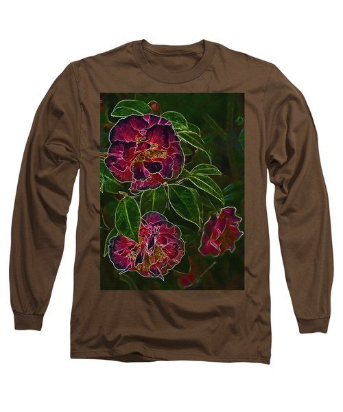 Glowing Camellia Long Sleeve T-Shirt