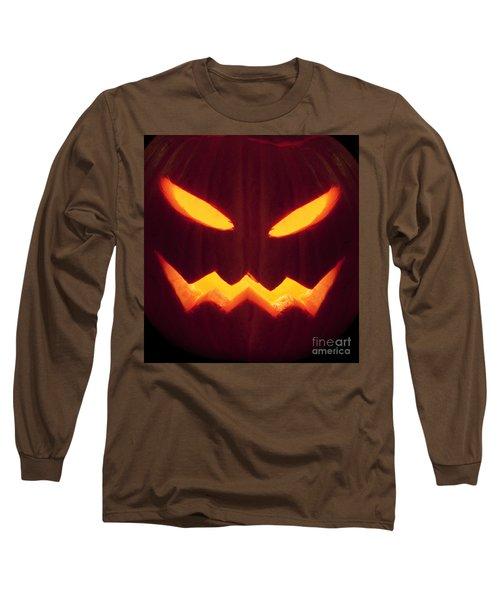 Glowing Pumpkin Long Sleeve T-Shirt