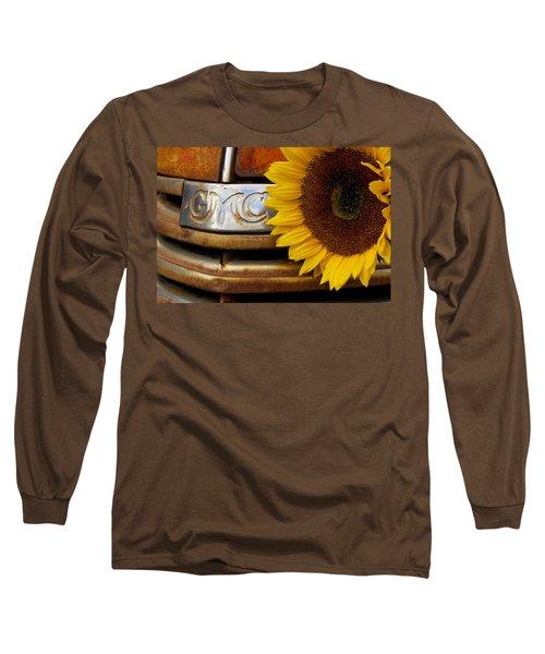 Gmc Sunflower Long Sleeve T-Shirt by Steven Bateson