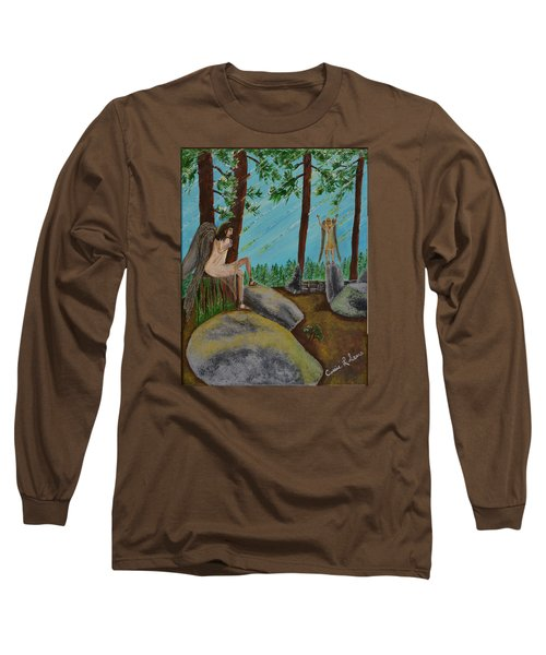 God Calls His Angels Long Sleeve T-Shirt by Cassie Sears