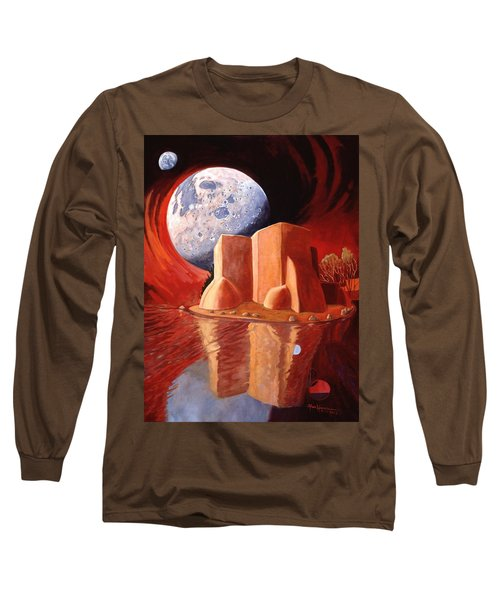 God Is In The Moon Long Sleeve T-Shirt by Art James West