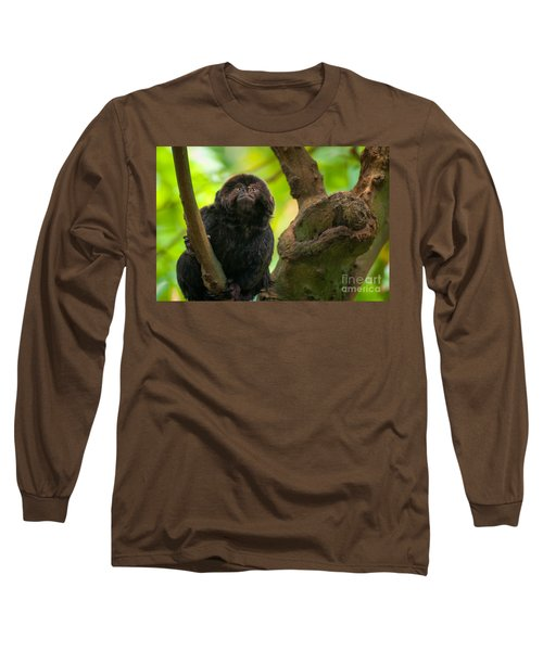 Goeldi's Callimico Long Sleeve T-Shirt by Bianca Nadeau