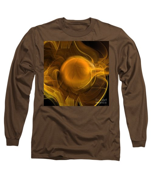Gold Long Sleeve T-Shirt by Elizabeth McTaggart