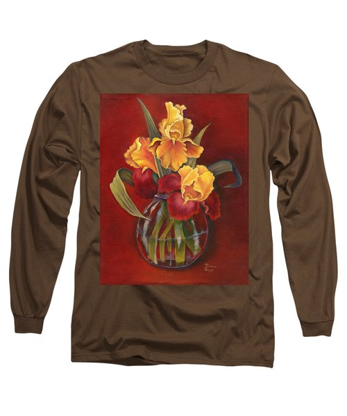 Gold N Red Iris Long Sleeve T-Shirt
