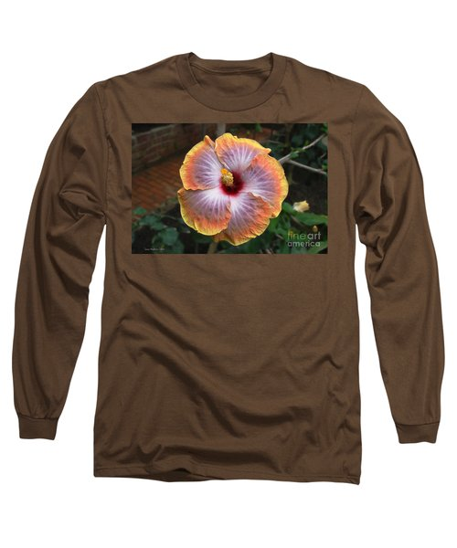Long Sleeve T-Shirt featuring the photograph Gold Rim Hibiscus by Susan Wiedmann