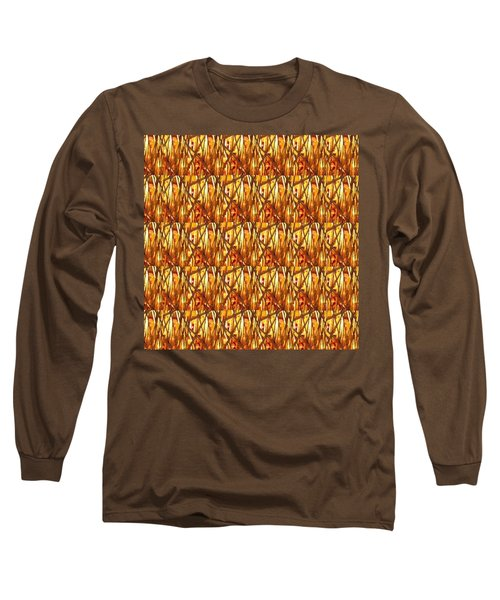 Long Sleeve T-Shirt featuring the photograph Gold Strand Sparkle Decorations by Navin Joshi