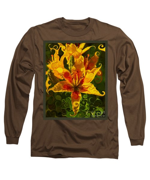 Long Sleeve T-Shirt featuring the painting Golden Beauties by Omaste Witkowski
