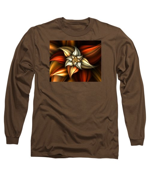 Long Sleeve T-Shirt featuring the digital art Golden Beauty by Ester  Rogers