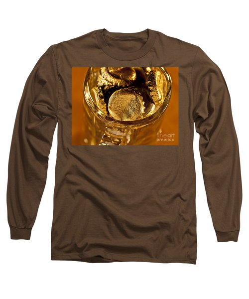 Long Sleeve T-Shirt featuring the photograph Golden Beer  Mug  by Wilma  Birdwell