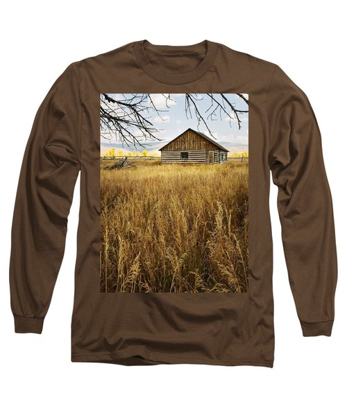 Golden Cabin Long Sleeve T-Shirt by Sonya Lang