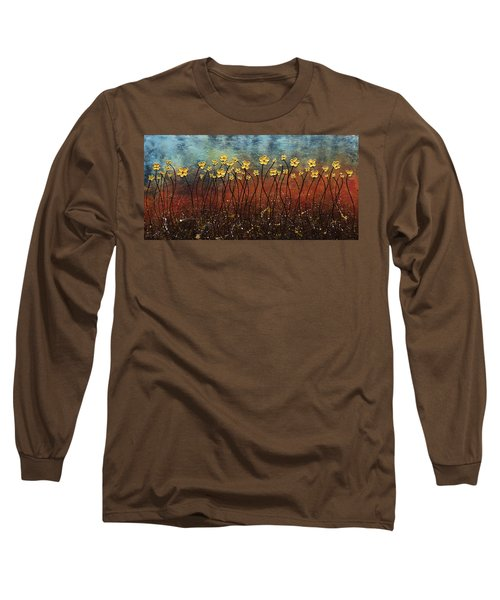 Golden Flowers Long Sleeve T-Shirt