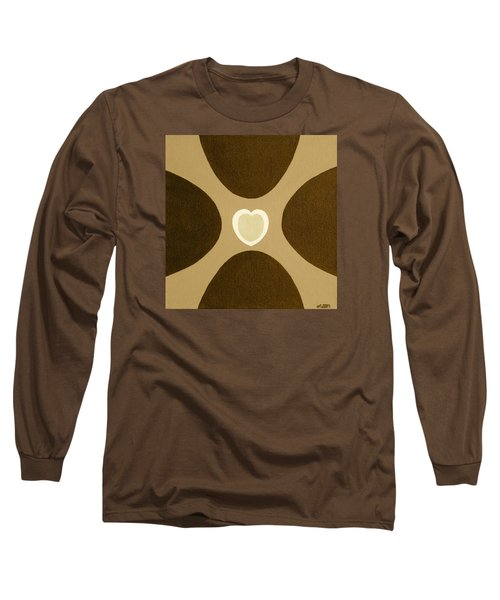 Golden Heart 3 Long Sleeve T-Shirt by Lorna Maza